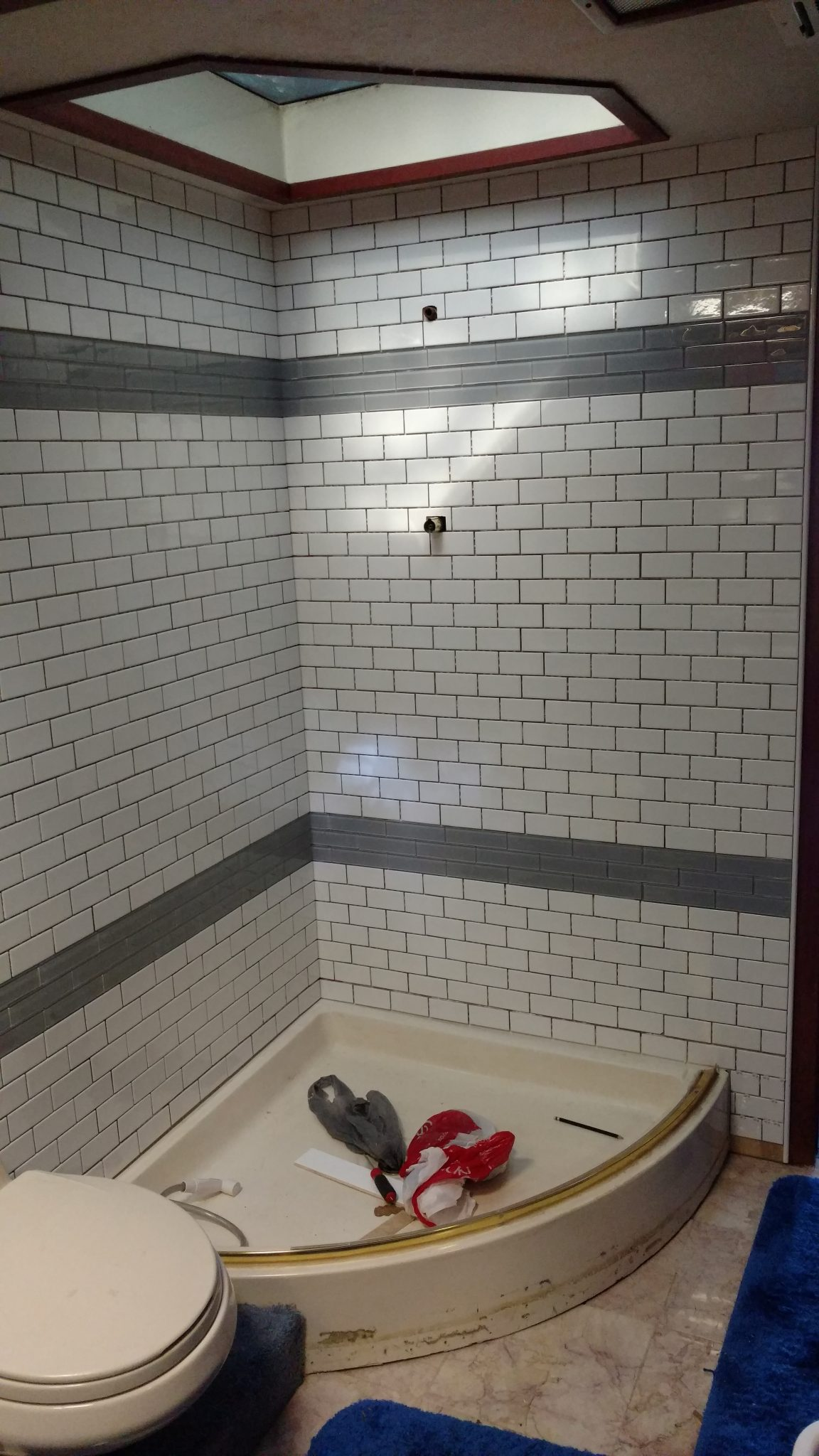 Ideas flextile this shower stall is a beautiful success story send us a picture of your success story and let your masterpiece be an inspiration to others dailygadgetfo Images